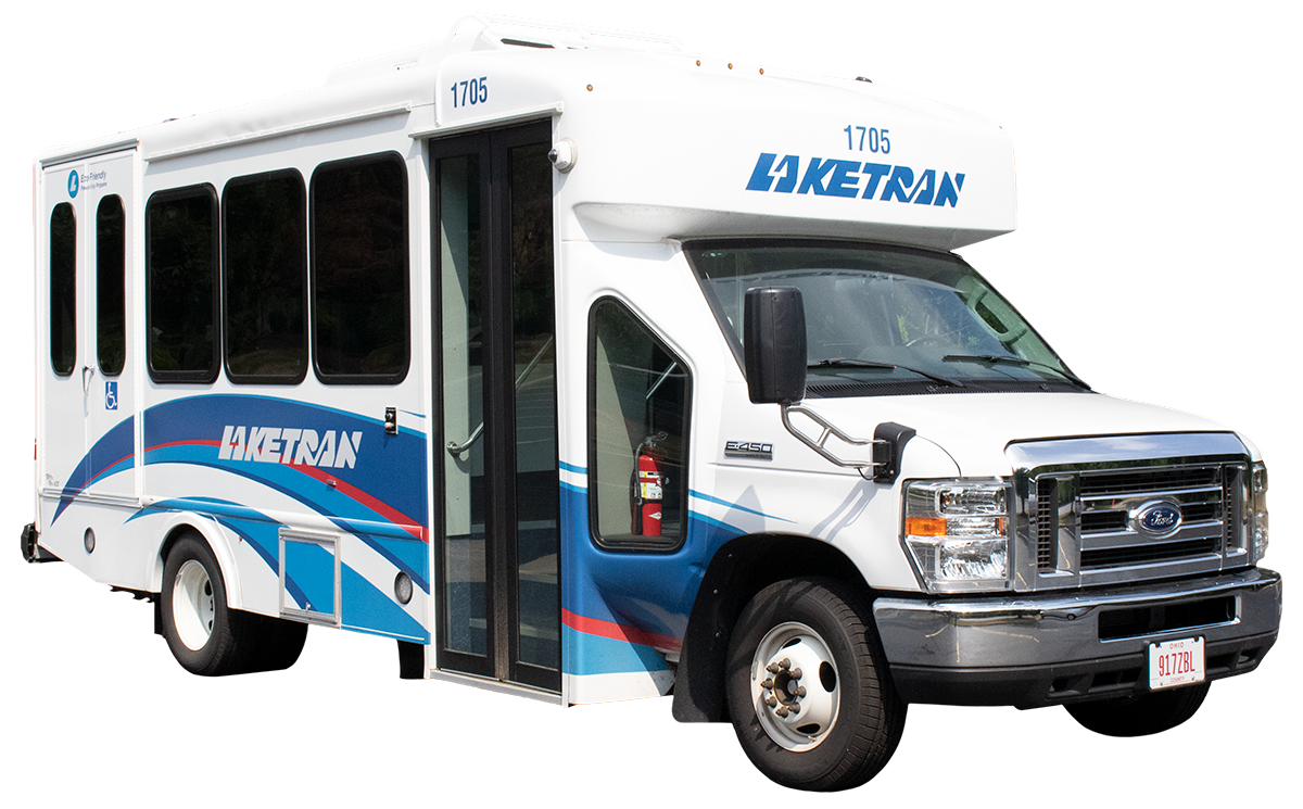 Image of a Laketran Dial-a-ride bus