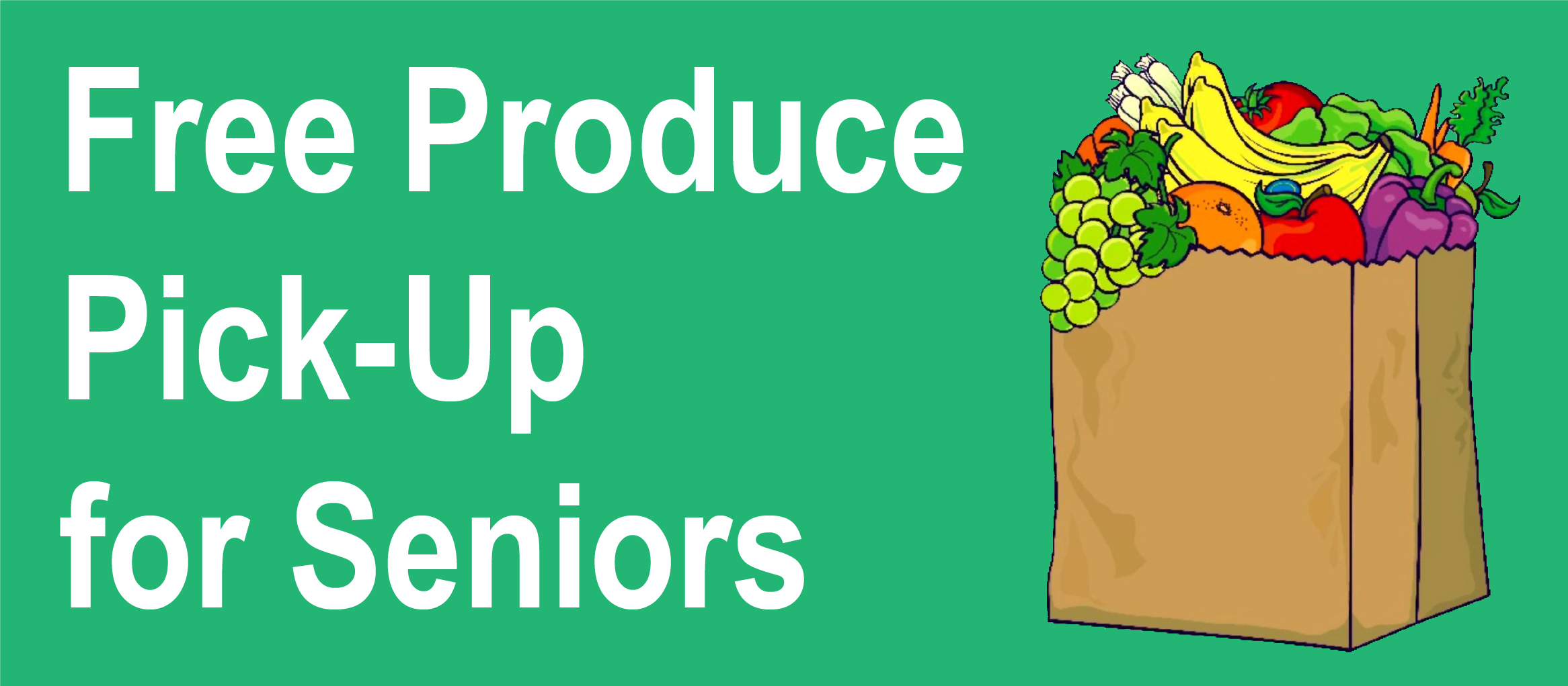 Clip art image of produce in grocery bag