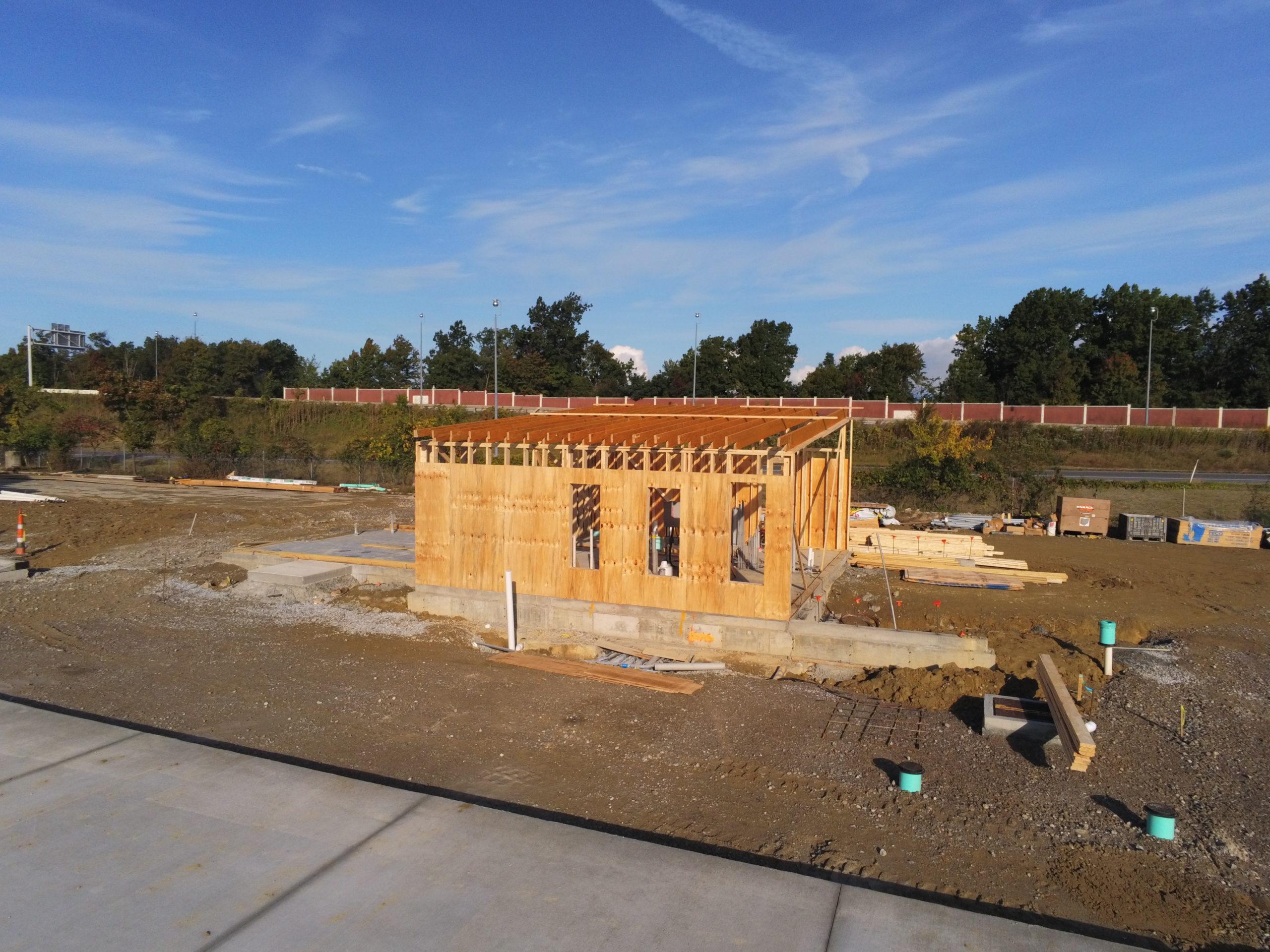 Wickliffe Transit Center construction